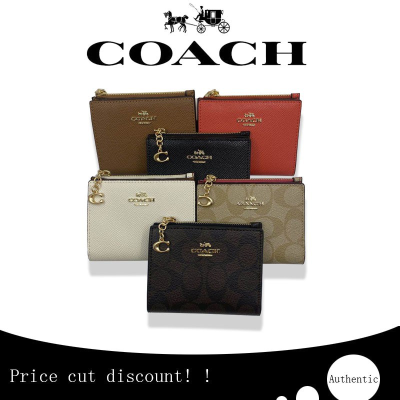 ㍿﹍❆(Spot) ของแท้ COACH กระเป๋าใส่เหรียญสุภาพสตรี / F73867 F78002 / กระเป๋าสตางค์สุภาพสตรี / กระเป๋าสตางค์ใบสั้น / กระเป๋