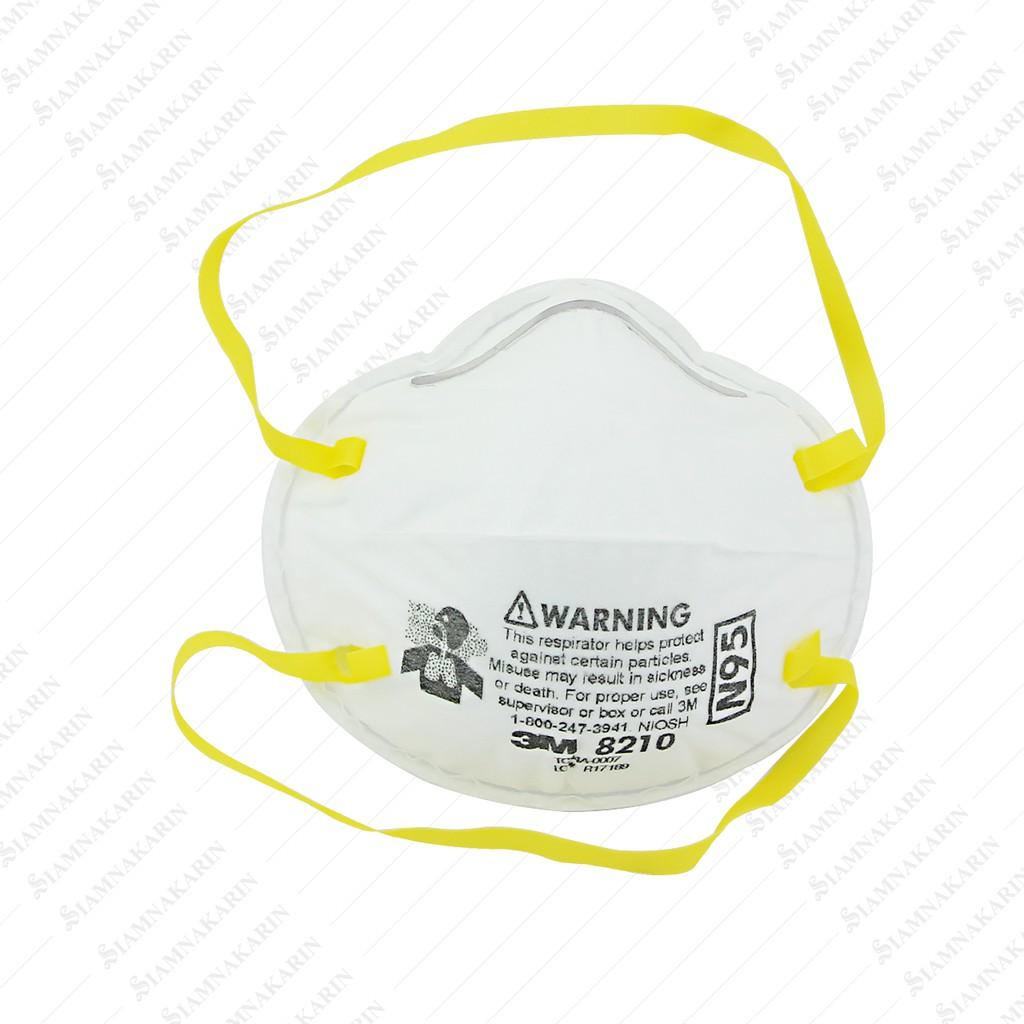 ○【Really stock】 3M หน้ากากป้องกันฝุ่นละออง 8210 (N95) 95% มาตรฐานอเมริกา (กล่อง 20 ชิ้น)