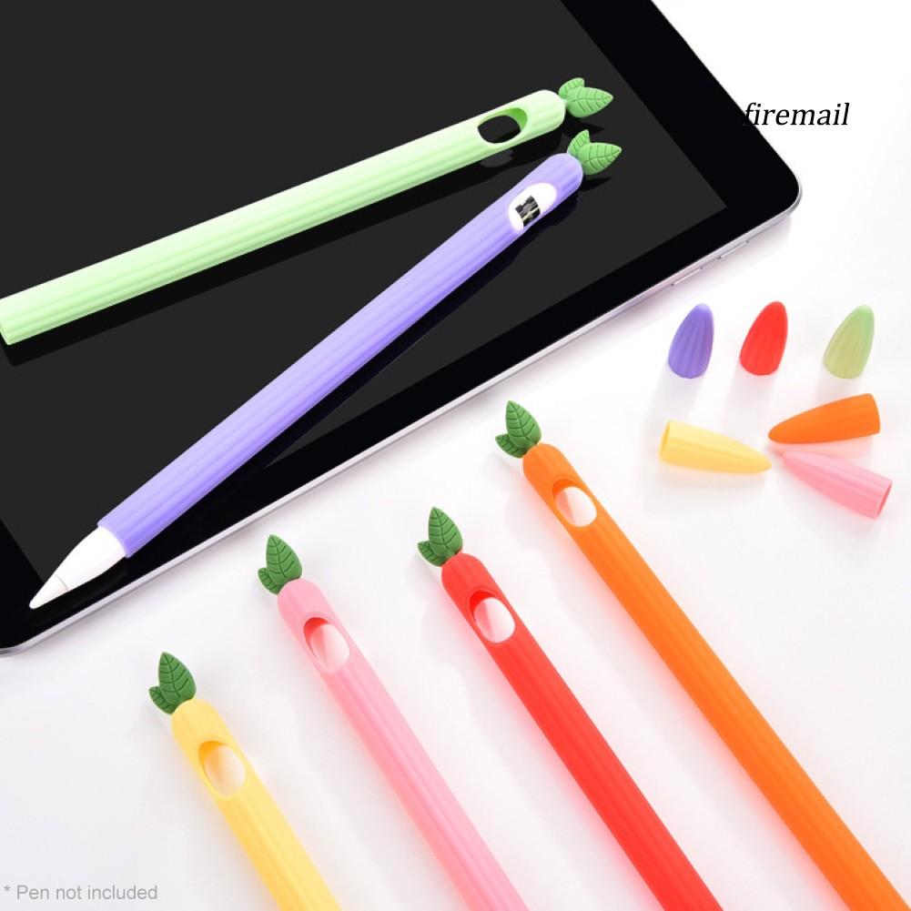 ปากกาทัชสกรีน Stylus Soft Silicone Cute Vegetables Shape Protective Case Cover for Apple Pencil 1/2