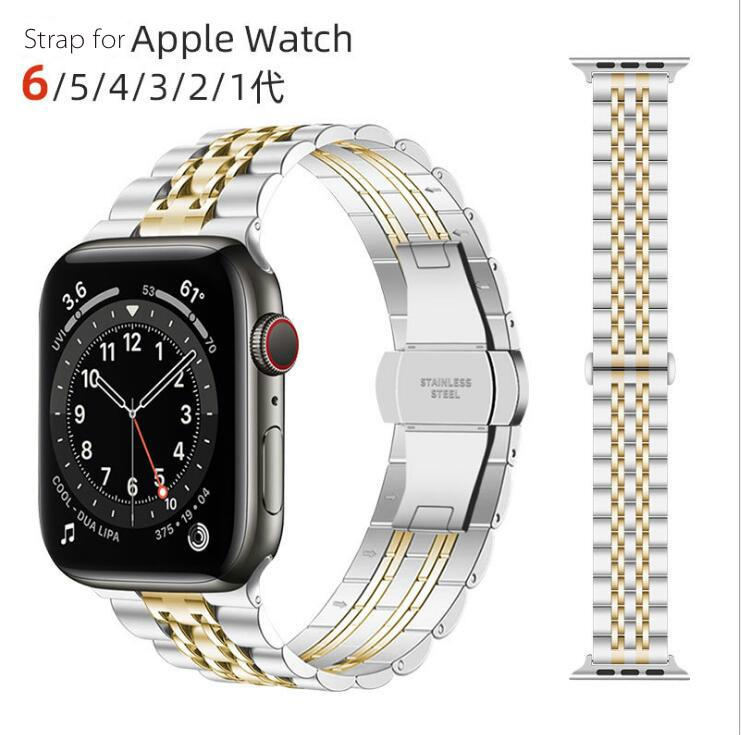 40/44mm Stainless Steel Link Band Strap for Apple Watch Series 6 5 4 3 iWatch SE