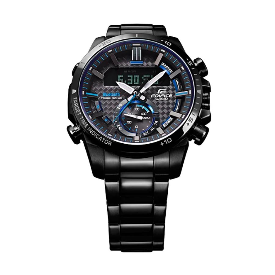 Casio Edifice นาฬิกาข้อมือผู้ชาย สายสแตนเลส รุ่น ECB-800DC,ECB-800DC-1A -  สีดำ edk6