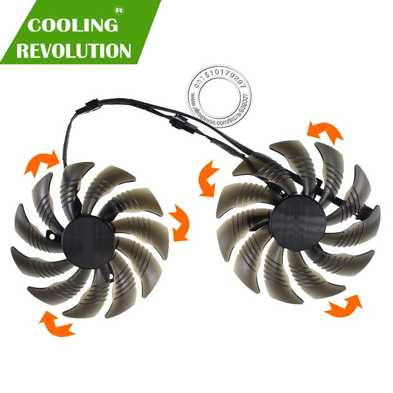 88MM PLD09210S12HH T129215SU Video Card Fan Cooler for GIGABYTE GTX 1050 1060 1070 Ti GV-RX570 580 AORUS RX 470 480 R9 3