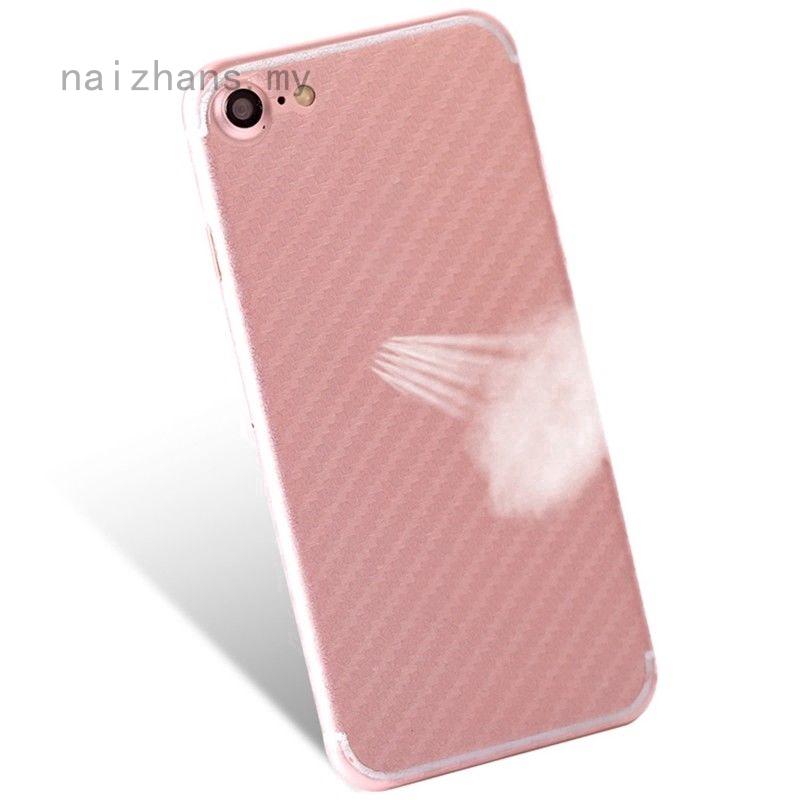 Nazhans สติ๊กเกอร์ฟิล์มคาร์บอนไฟเบอร์ป้องกันโทรศัพท์มือถือ 1 ชิ้นสําหรับ Apple Iphone