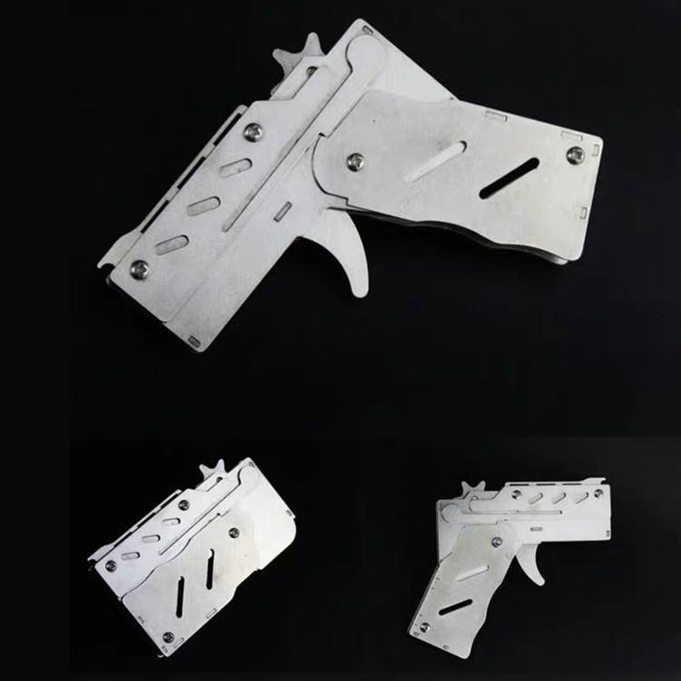 ปืนหนังสติ๊ก 6นัด สแตนเลส พับได้