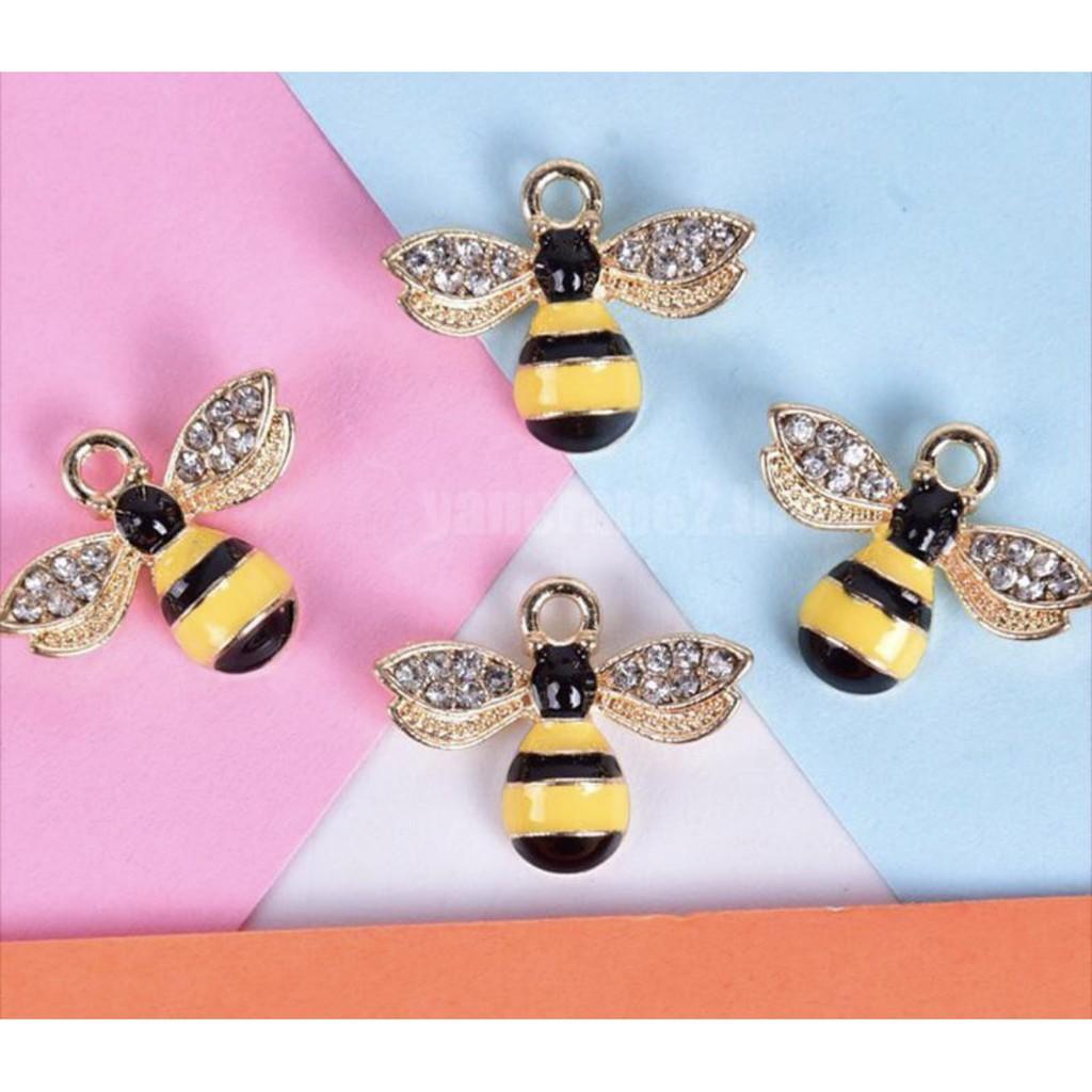 สร้อยคอทอง⌵ จี้ผึ้งประดับเพชร จี้ห้อยคอแฟชั่น ราคาต่อหนึ่งชิ้น พร้อมส่ง 🇹🇭