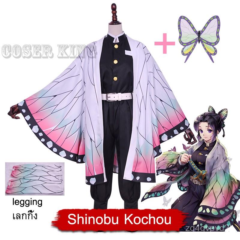 คอสเพลย์อนิเมะปีศาจฆ่า: kimetsu NO yaiba kochou Shinobu nezuko kanao Kanae ชุดฮาโลวีนผู้หญิงชุดคอสเพลย์ วิกผม