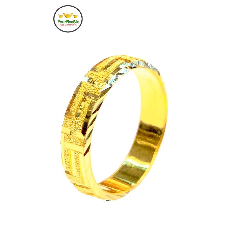 FFS แหวนทองครึ่งสลึง รวยวนไป หนัก 1.9 กรัม ทองคำแท้96.5%