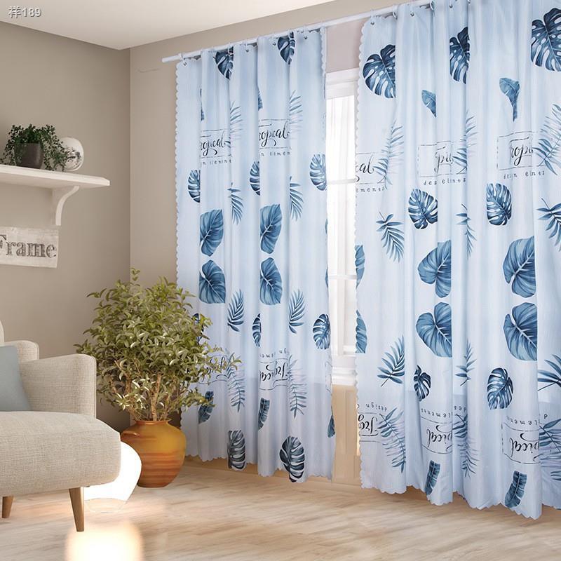 ┇◕☌ผ้าม่านประตู ผ้าม่านหน้าต่าง ผ้าม่านกันแดด  สำเร็จรูป ผ้าม่านสำเร็จรูป (ตาไก่) แถมเชือก CPS1