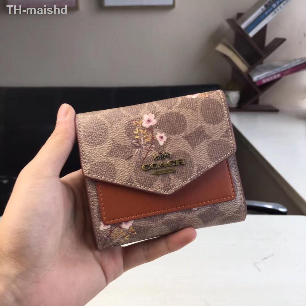 ❏☌☎Coach F67246  กระเป๋าสตางค์ผู้หญิง Women's Wallets and Wristlets กระเป๋าสตางค์ใบสั้น