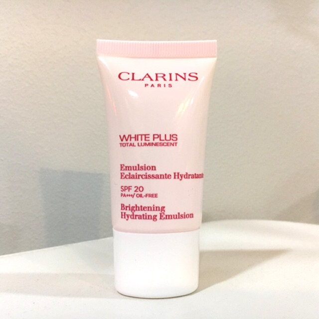 ผลการค้นหารูปภาพสำหรับ CLARINS White Plus Pure Translucency Brightening Hydrating Emulsion SPF 20/PA+++