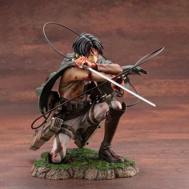 ◆✔۞18 ซม. Attack on Titan Figure Rival Ackerman Action Figure Package Ver. Levi PVC Action Figure Rivaille Collection ขอ
