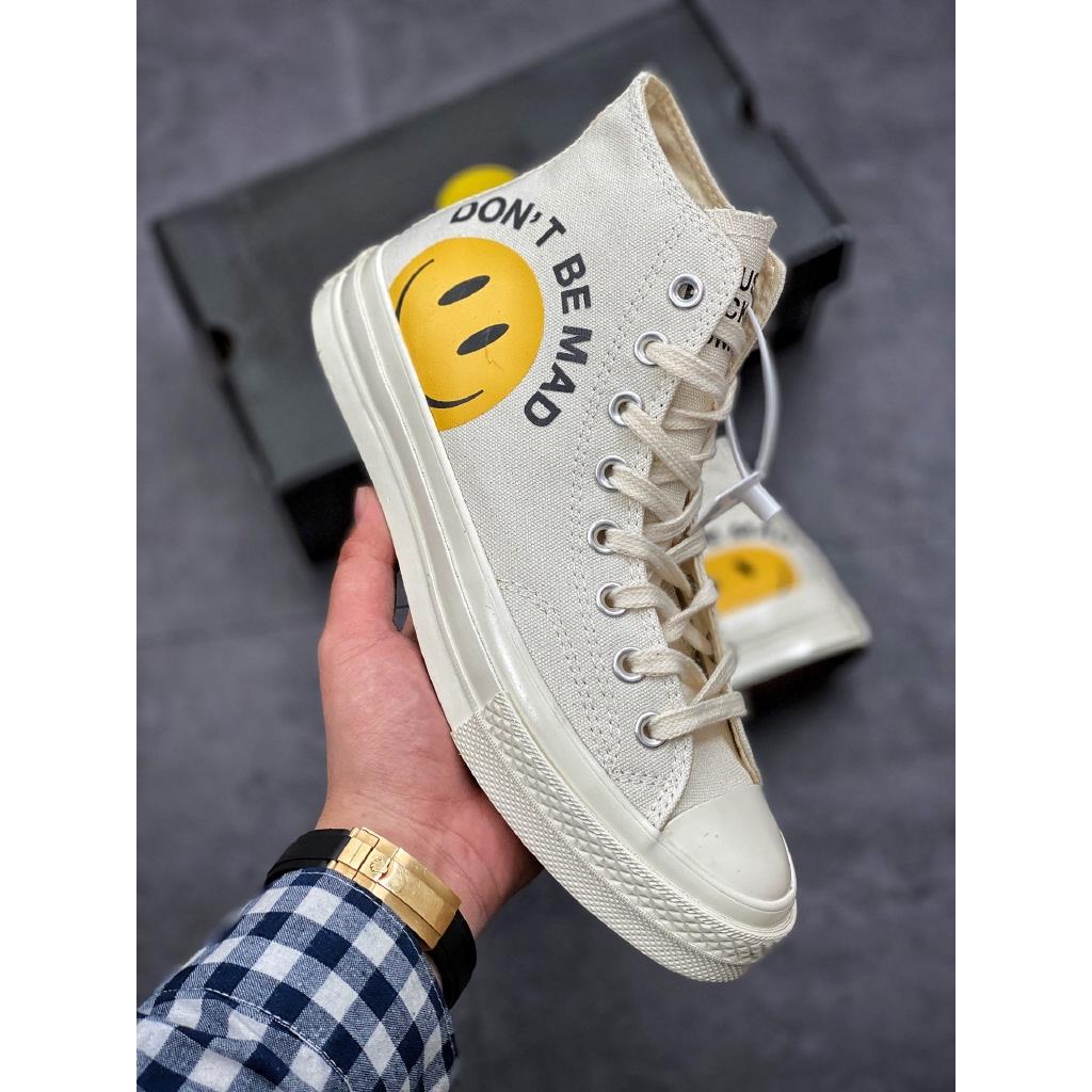 Converse Chuck Taylor AllStar 70 Hi joint series สำหรับชายและหญิงคู่สีเบจรองเท้าผ้าใบแฟชั่นรองเท้าลำลอง