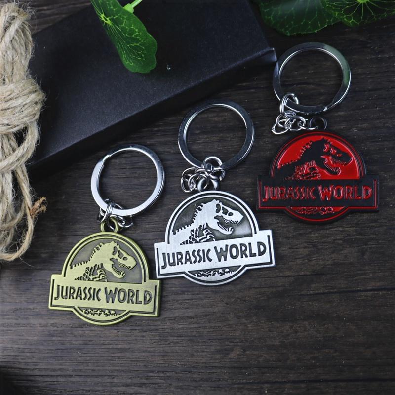 พวงกุญแจโลหะรูปไดโนเสาร์ Jurassic World 2 สําหรับผู้ชายและผู้หญิง