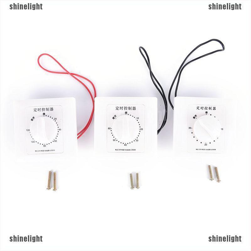 220V 30//60//120Min Time Countdown Intelligent Timer Switch Control Socket FJ