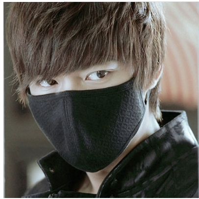 City Hunter mask แมสปิดปากที่ดีที่สุด แมสปิดจมูก ผ้าปิดปาก ผ้าปิดจมูก หน้ากากผ้าฝ้ายน่ารัก (สีดำ)