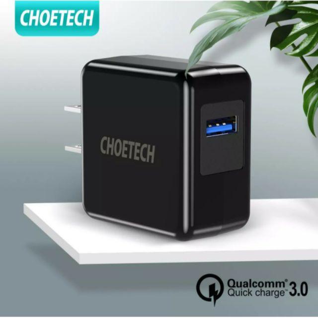 (เหลือสายชาร์จ) CHOETECH หัวชาร์จเร็ว Qualcomm Quick Charge 3.0 จ่ายไฟสูงสุด 18 W ชาร์จไว