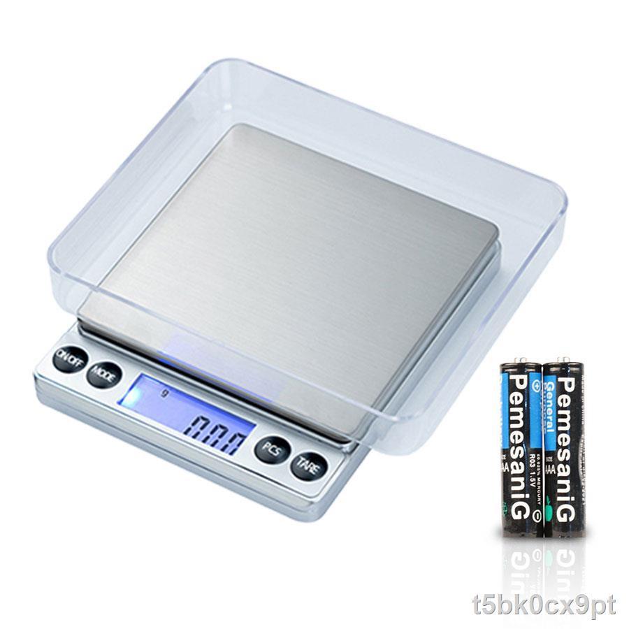 ราคาต่ำสุด℗✜□ezliving เครื่องชั่งน้ำหนักดิจิตอล ชั่งได้ 2000 กรัม ทศนิยม 1 จุด 0.1 ชั่งทอง ชั่งเพชร ชั่งแป้ง ชั่งอาหาร