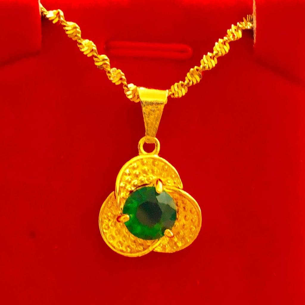 ▩✎▼[ราคาสุดคุ้ม] สร้อยคอทองคำขาวเวียดนามหญิงโอนจี้สร้อยคอไหปลาร้าทองคำแท้เก็บได้นานไม่จาง