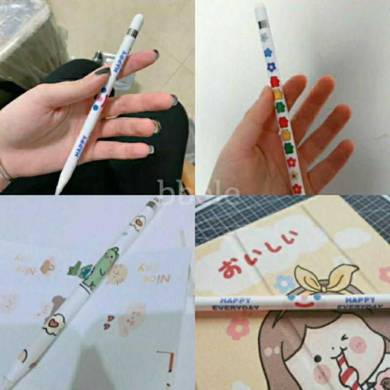 ae92 ♡พร้อมส่ง#7 • สติ๊กเกอร์ สติกเกอร์ film ปากกา sticker หุ้ม ตกแต่ง cover ปากกา apple pencil gen.1 ฟิล์ม กันรอย
