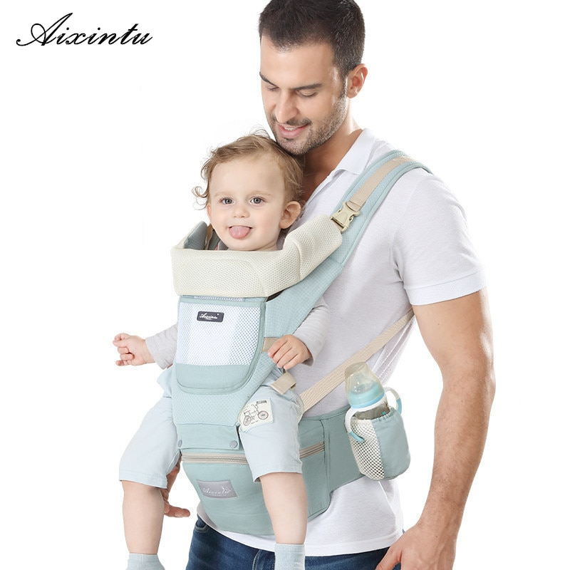 เป้อุ้มเด็กแรกเกิดตามหลักสรีรศาสตร์เป้อุ้มเด็กเป้อุ้มกระเป๋าหน้าจิงโจ้เดินทางเด็ก 0-36 เดือน