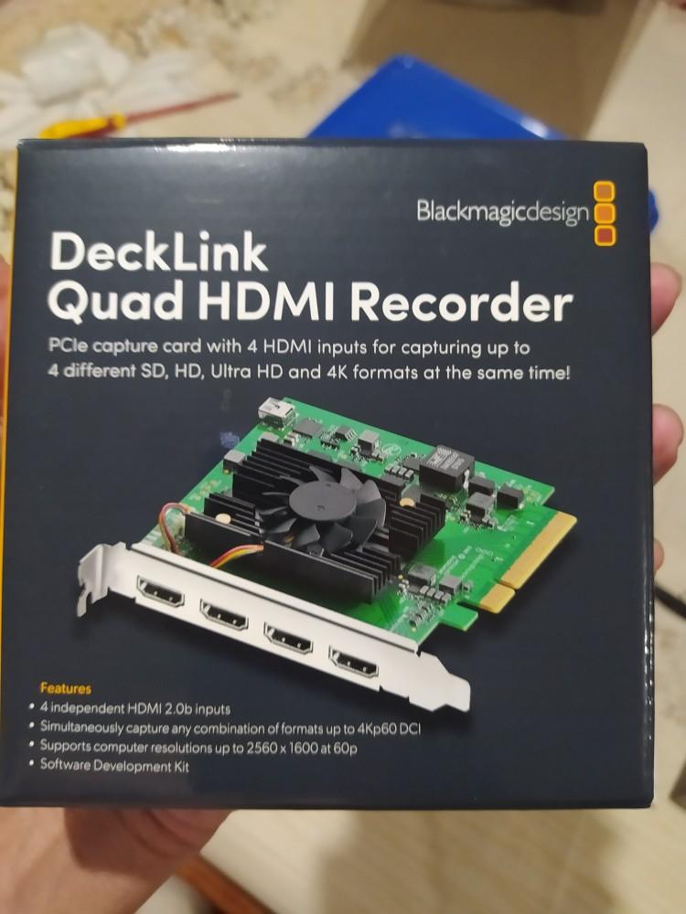 Blackmagic Design Decklink Quad Hdmi Recorder Capture Card À¸›à¸£à¸°à¸ À¸™à¸¨ À¸™à¸¢ 1 À¸› Shopee Thailand