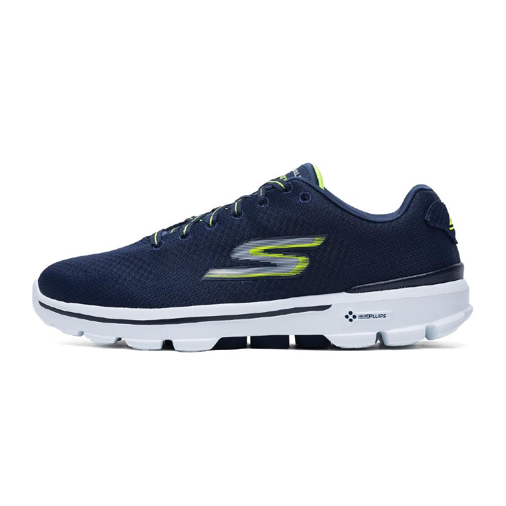 Skechers Skechers รองเท้าผู้ชาย Go Walk3 รองเท้าวิ่งน้ำหนักเบารองเท้าวิ่งตาข่ายรองเท้าผ้าใบลำลอง 54040