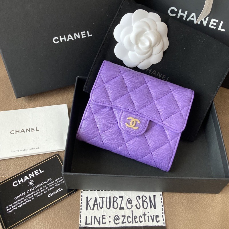 New! Chanel Classic Caviar Small Wallet GHW Holo29