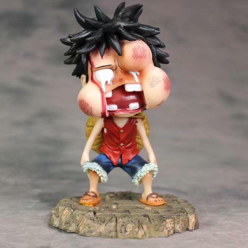 (พร้อมส่ง) Luffy ลูฟี่ หน้าบวม One piece ฟิกเกอร์ โมเดล Figure Model ลูฟี่ วันพีช SD PVC