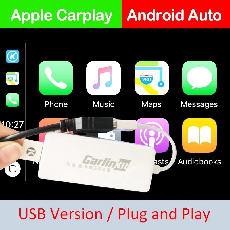 Usb สมาร์ทลิงค์ Apple Carplay Dongle สําหรับเครื่องเล่น Android