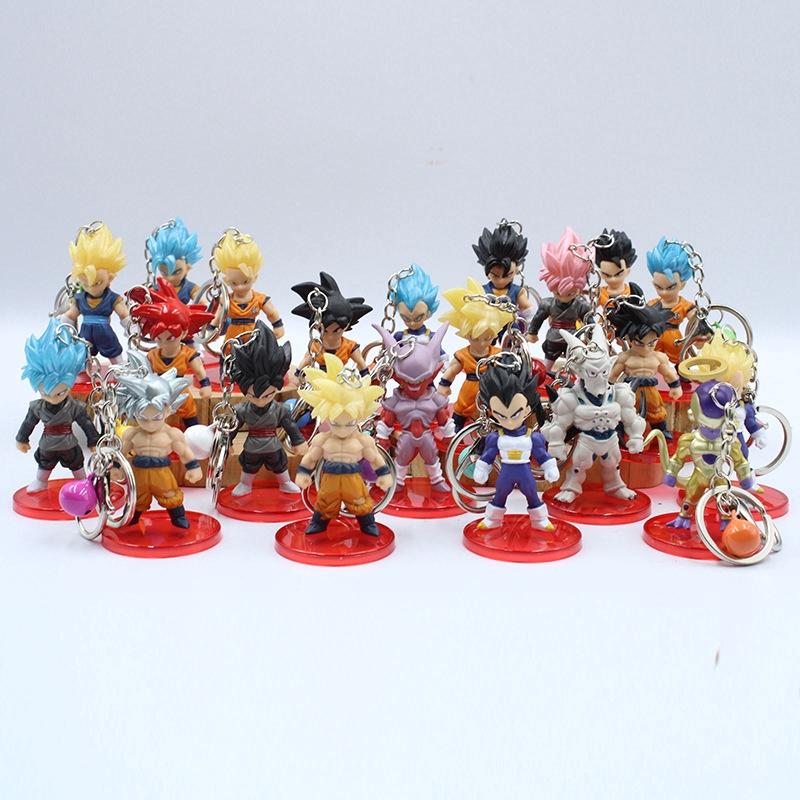 พวงกุญแจตุ๊กตาฟิกเกอร์ Dragonball Goku Vegeta 21 ชิ้น / ชุดขนาด 6 . 8 ซม .