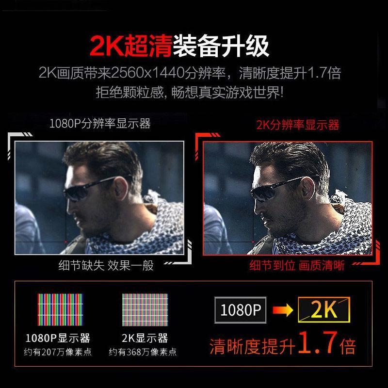 PANDA/แพนด้า24/27นิ้ว2Kซุปเปอร์ชัดเจนIPSลำโพงชาร์จไร้สายยกหมุนจอคอมพิวเตอร์