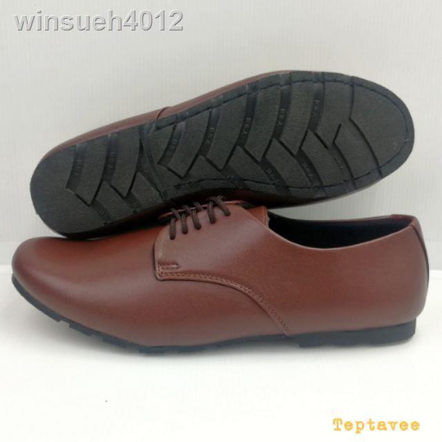 รองเท้าส้นสูง☜รองเท้าลูกเสือคัชชูผู้หญิงสีน้ำตาลเบอร์ 36-42 รองเท้าคัดชูรองเท้าคัทชูหนังหญิงส้นสูงส้นเท้าดำรองเท้าชุมชน