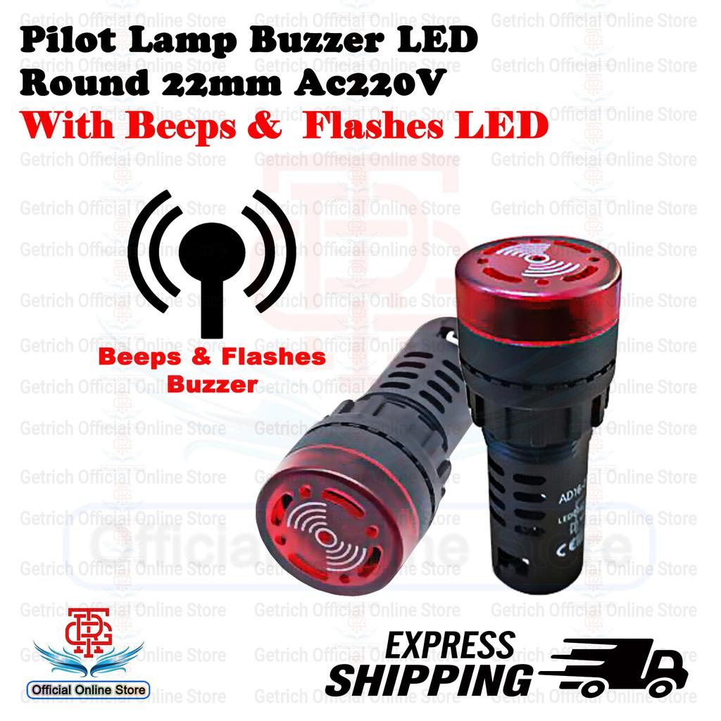 หลอดไฟ Led Buzzer พร้อม Beeps & Flashes Ac220v สําหรับติดรถยนต์