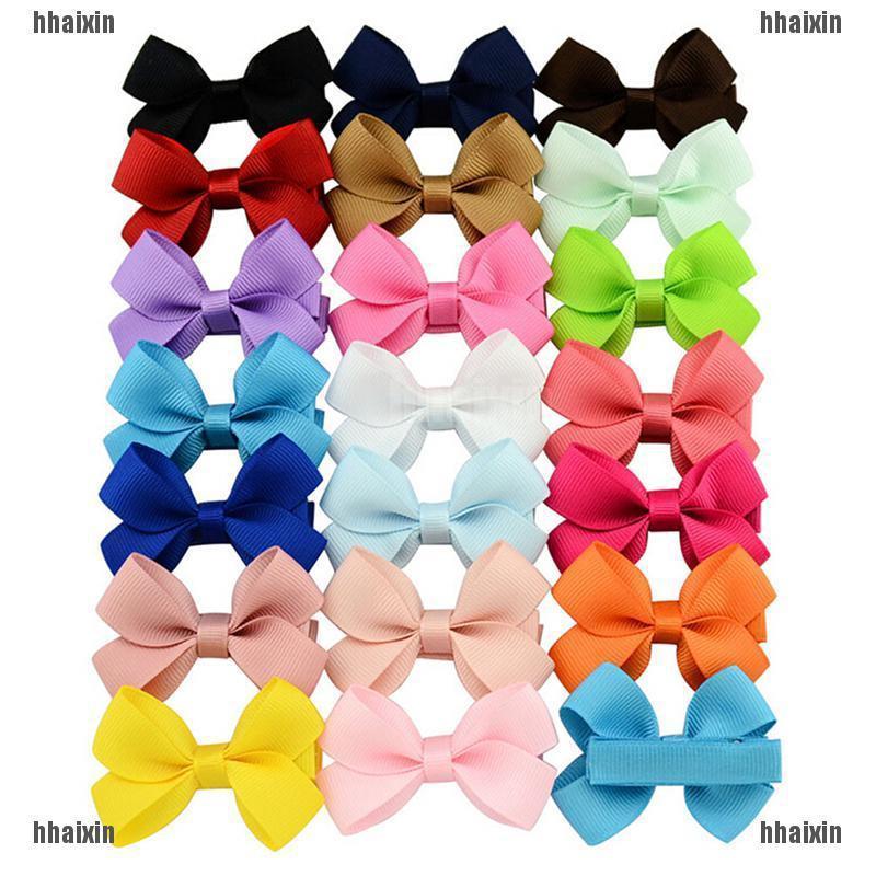 "20Pcs Boutique 6/"" Hiar Bows Baby Girls Soft Headbands Grosgrain Ribbon Big 6 Inc"