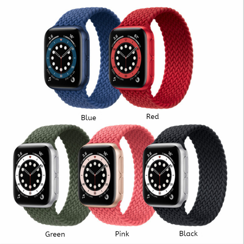 Braided Solo Loop for Apple Watch Series 6/5/4 and Apple Watch Se 40Mm or 44Mm for Apple Watch Series 3/2/1 38Mm or 42Mm Ultracomfortable Band Strap