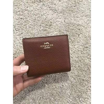 ✢≚Rina อเมริกาซื้อ COACH/Coach ผู้หญิงใหม่สั้นซิปกระเป๋าสตางค์ใบเล็กกระเป๋าใส่บัตรกระเป๋าใส่เหรียญ