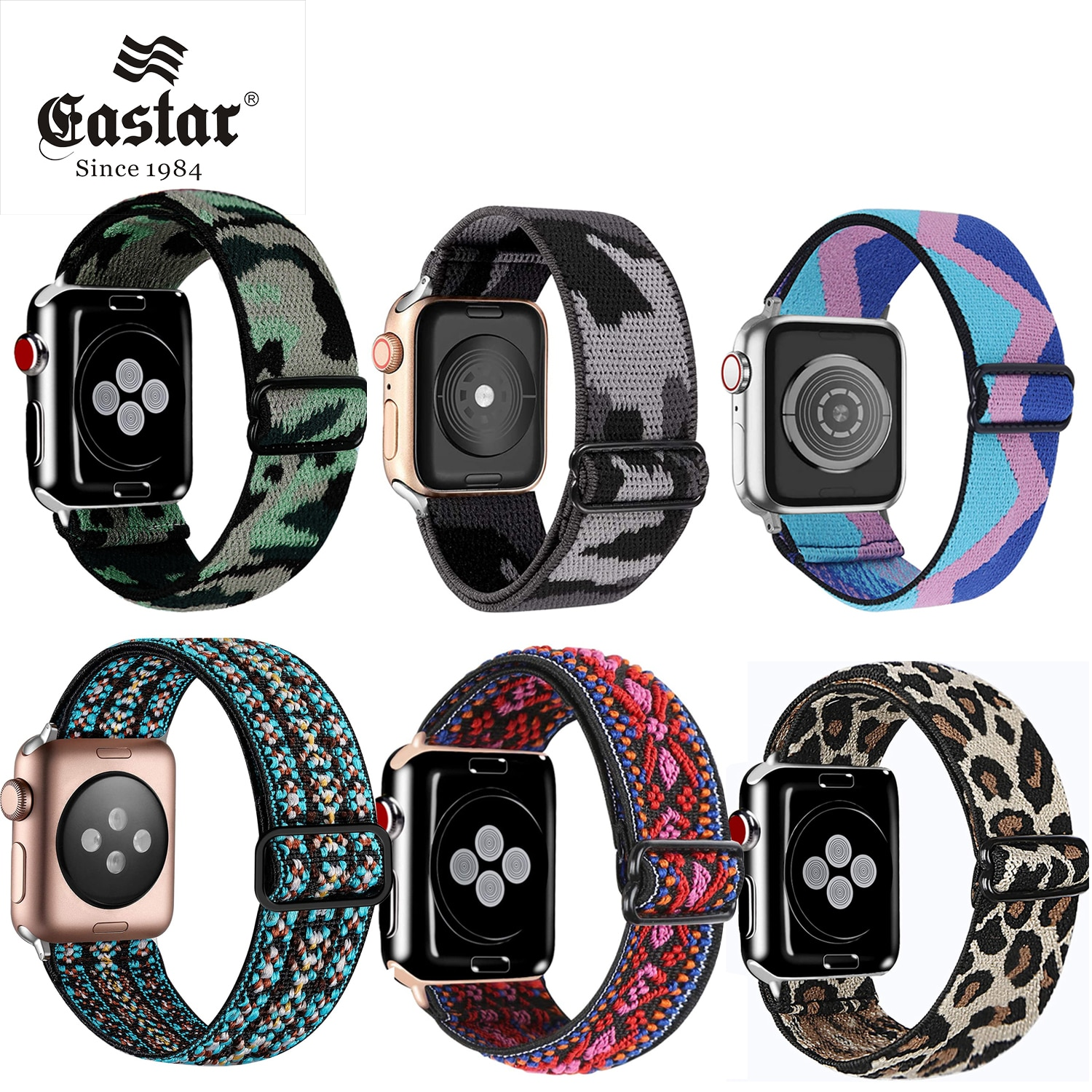 Elastic Solo Loop For Apple watch band 44mm 40mm 38mm 42mm Fabric Nylon Elastic belt bracelet iWatch series 3 4 5 se 6 s