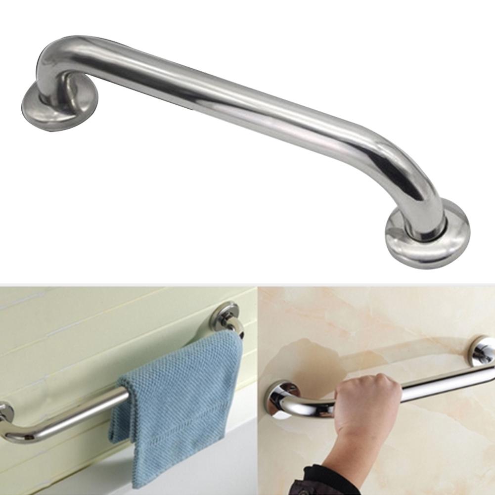 Bathroom Chrome Shower Bathtub Safety Handle Grip Grab Rail Bar Towel Hanger