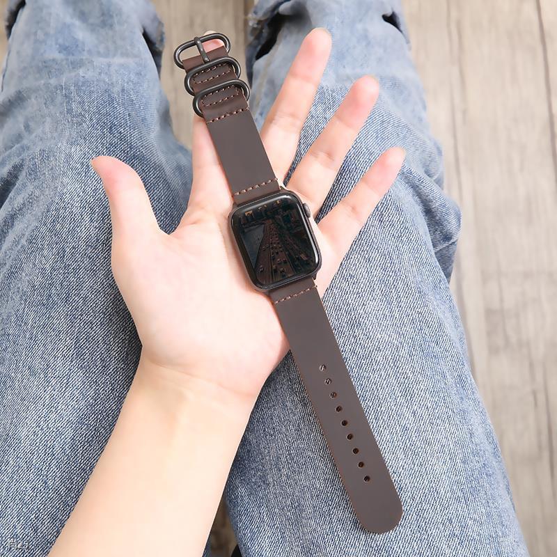 ✱▫✼ใช้ได้กับ iwatch6 / SE สาย applewatch4 3/2/1 หนังสาย Apple watch 44 42mm 40/38 ชายและหญิง series5 บุคลิกภาพกีฬาแฟชั่