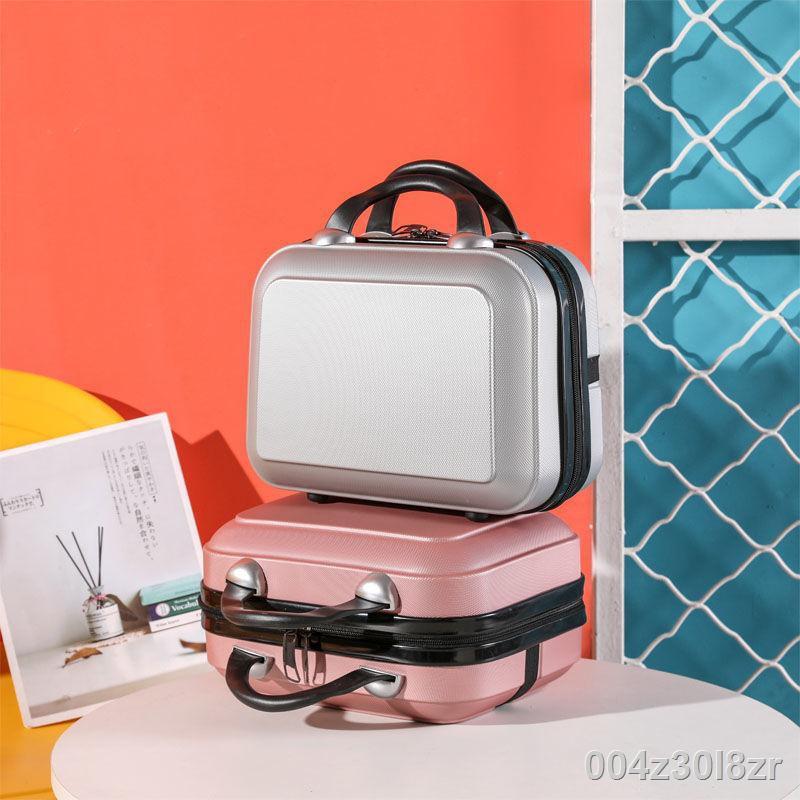 ราคาขายส่ง﹍กระเป๋าเดินทางขนาดเล็กกระเป๋าเครื่องสำอางน่ารัก 14 นิ้วแบบพกพากล่องขนาดเล็กกระเป๋าแขวนภายนอกมัลติฟังก์ชั่ถุ