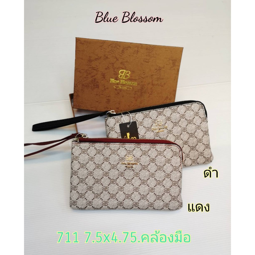 Blue Blossom กระเป๋าคล้องมือ ขนาด 7.5x4.75 นิ้ว