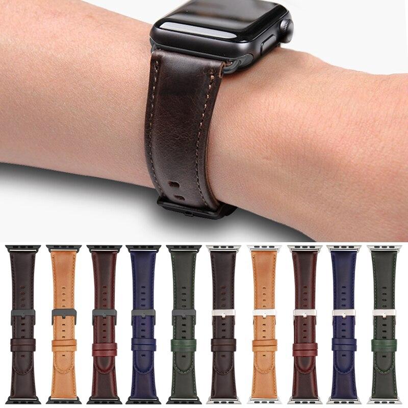 【Apple Watch Strap】Apple Watch Series 6 se 5 4 3 2 1 สายหนัง Apple Watch 38 มม. 40 มม. 44 มม. 42 มม. 42 มม.