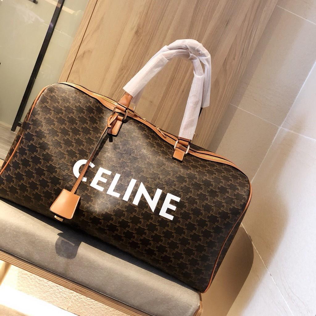 Celine. Celine นับกระเป๋าเดินทางเดียวกันกระเป๋าถือแฟชั่น unisex บุคลิกกระเป๋าสะพายแบบหนา / สวมใส่ได้กระเป๋าสะพายข้างขนาด