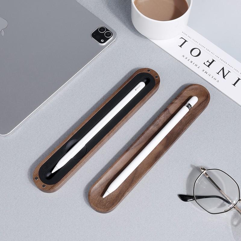 applepencilกล่องเก็บไม้เนื้อแข็งฝาครอบป้องกันแอปเปิ้ลipadกล่องปากกาแบนหนึ่งหรือสองรุ่น 1Ji0