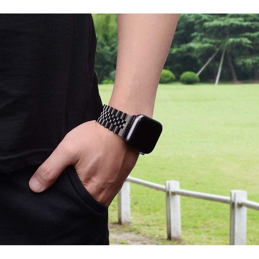 ☌✎สาย Applewatch Premium สายนาฬิกา applewatch series 6 5 4 3 2,Apple watch SE Stainless Steel apple watch Strap size 38ม