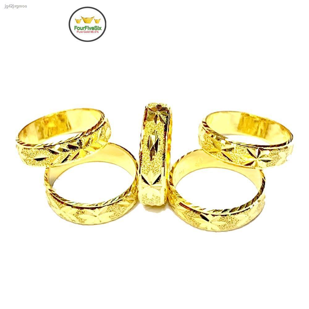 ราคาต่ำสุด㍿ↂ☄FFS แหวนทองครึ่งสลึง รุ้งตะวัน ลีลา หนัก 1.9 กรัม ทองคำแท้96.5%