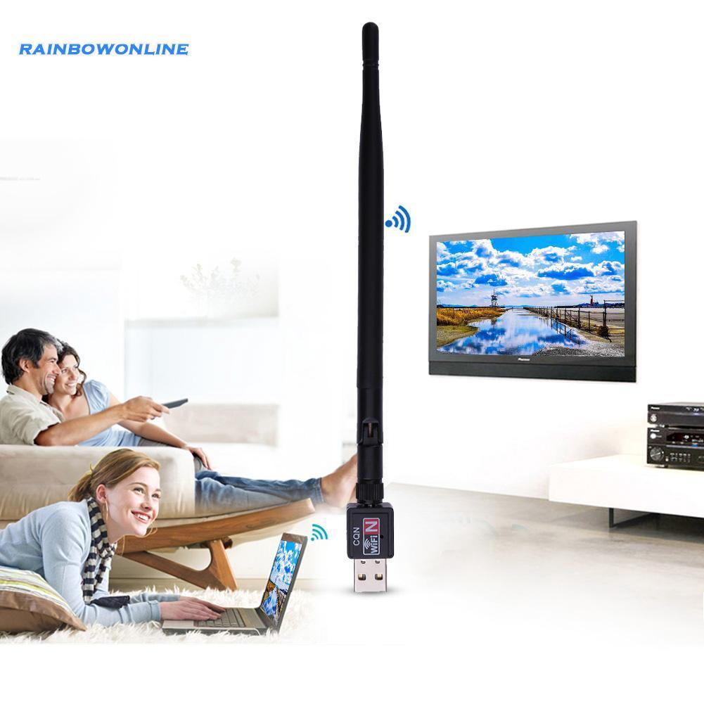 600M Wireless USB 2.0 Wifi Router  Adapter Network LAN Card w//5dBI Antenna SS
