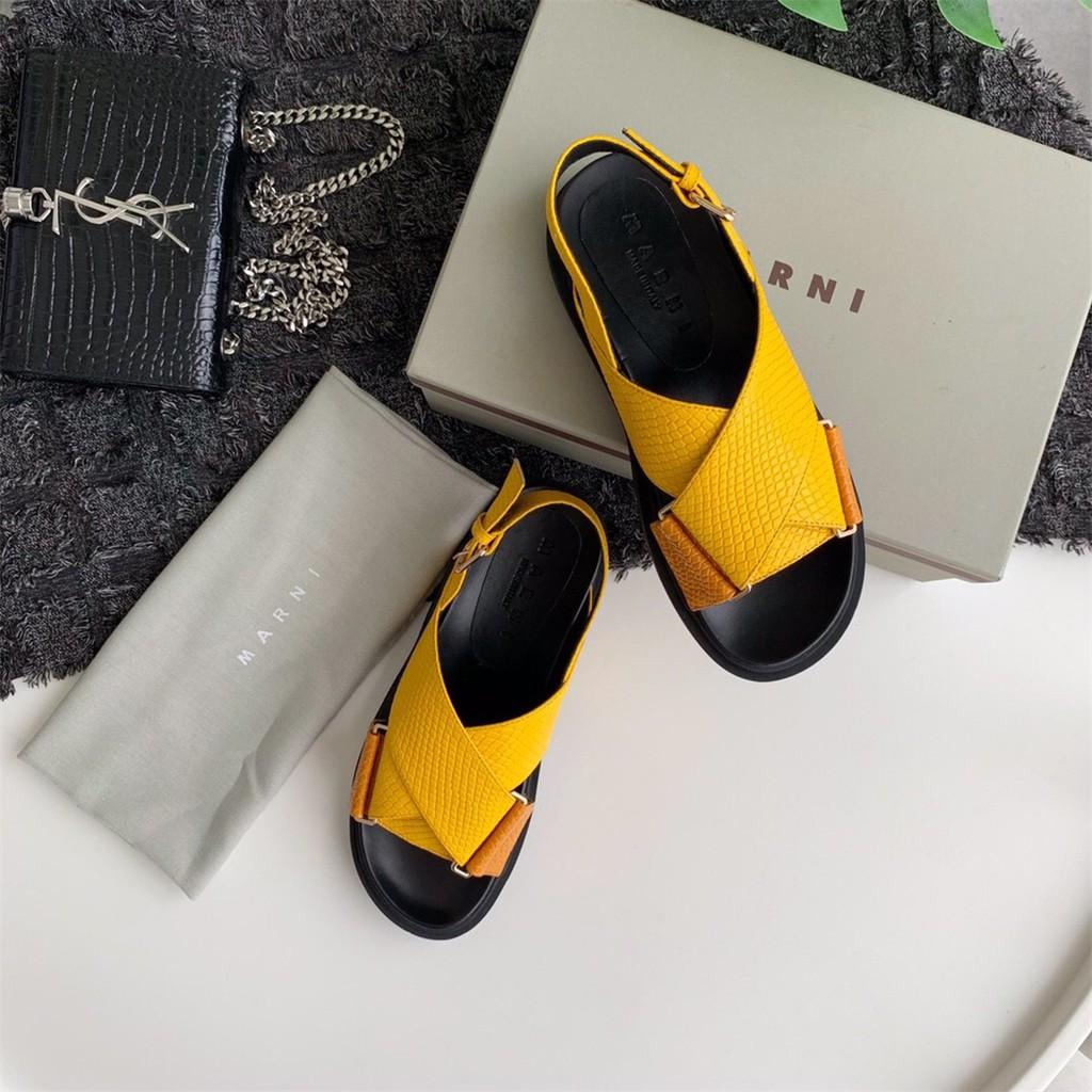 สินค้าใหม่ Marni ข้ามความคมชัดกีฬาแพลตฟอร์มรองเท้าลำลอง 5 fQrf
