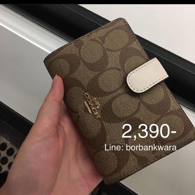 กระเป๋าสตางค์ใบสั้น Coach Medium Corner Zip Wallet แท้จาก Outlet 🇺🇸