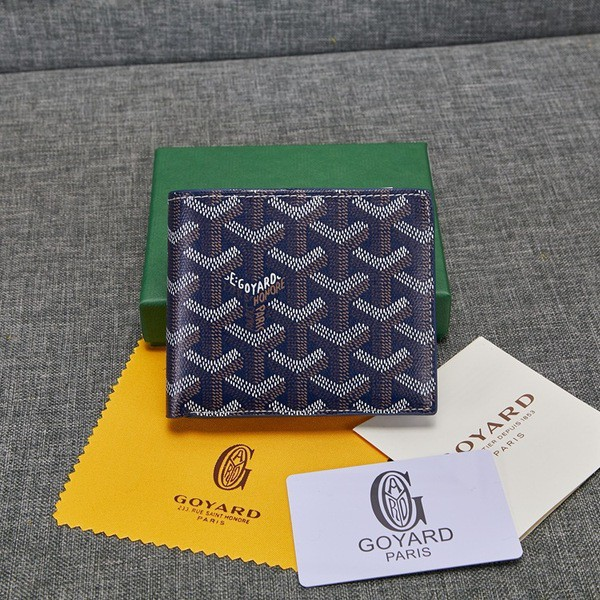 2019 New Goyard Wallet  Goya กับผิวหนังจริงพับกระเป๋าส้นเตารีดผู้ชายรุ่นหนึ่ง